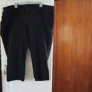 Torrid, 26, Denim Crop Pants